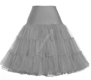 Szara spódnica Pin-Up, szara halka pod sukienkę | szare halki do sukienek pin-up - Lejdi
