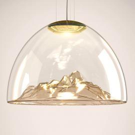 Belle suspension LED de designer Mountain View