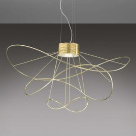 Suspension LED avec finition dorée Hoops 3