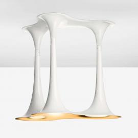 Plafonnier original Nafir 3 blanc et doré