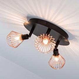 Plafonnier circulaire Dalma attractif, 3 lampes