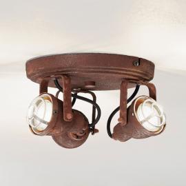 Plafonnier Bente à 3 lampes, aspect rouille