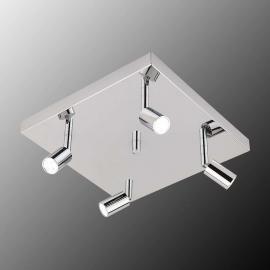 Plafonnier LED Karen carré à 4 lampes