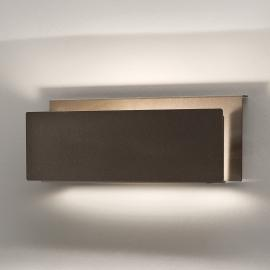 Applique à éclairage indirect Pochete, brune