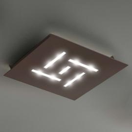 Plafonnier LED ultra-plat Pattern, brun