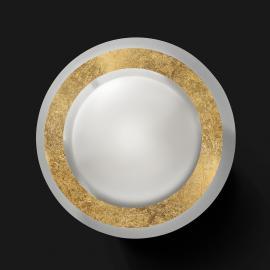 Élégant plafonnier LED Disco en doré