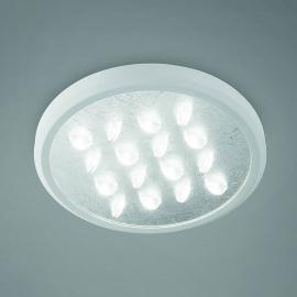 Élégant plafonnier LED Luno en argenté
