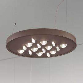 Élégante suspension LED Luno en brun rouille