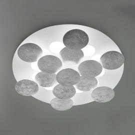 Plafonnier LED Nuvola avec feuilles d'argent