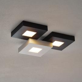 Plafonnier LED Cubus noir/blanc à 3 lampes