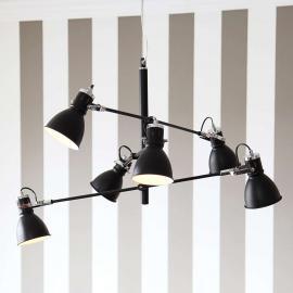 Suspension à 6 lampes Pigalle en noir