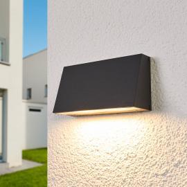 Applique d'extérieur LED Dennis large, fonte d'alu