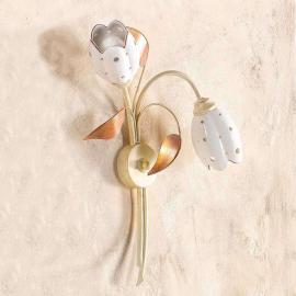 Applique florale TULIPANO à 2 lampes