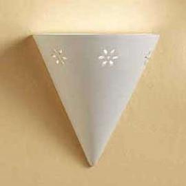 Belle applique Ciomo en céramique blanche