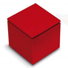 Lampe à poser LED Cuboled rouge, cubique