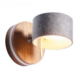 Applique LED Frits en bois de chêne et feutre