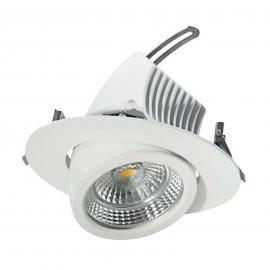 Spot encastrable LED pivotant 17 cm, 31 W