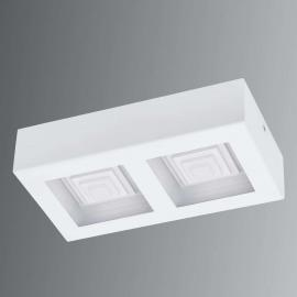 Plafonnier LED à deux lampes Ferreros en blanc