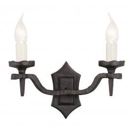 Applique médiévale à 2 lampes RECTORY