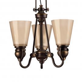 Suspension rustique à 3 lampes MAYFLOWER