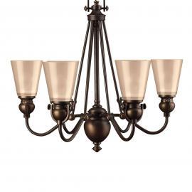 Suspension rustique à 6 lampes MAYFLOWER