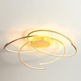 Plafonnier LED Space feuilles d'or 80cm
