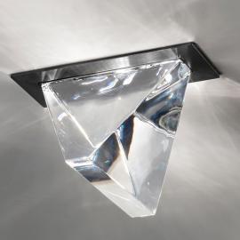 Plafonnier encastré LED Tripla cristal anthracite