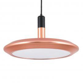 Suspension LED Planet avec abat-jour cuivre