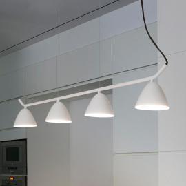 Suspension LED Flash à quatre lampes, blanc