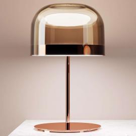 Lampe à poser LED Equatore en cuivre, 60 cm