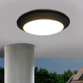 Plafonnier d'extérieur LED Berta, noir, 11W, 3000K