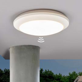 Plafonnier Uberta à détecteur, blanc, 11W, 3000K