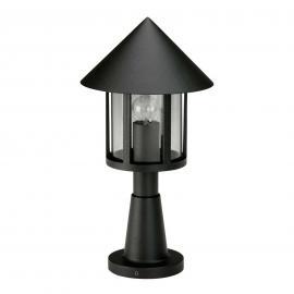Luminaire pour socle d'inspiration LAMPIONE noir