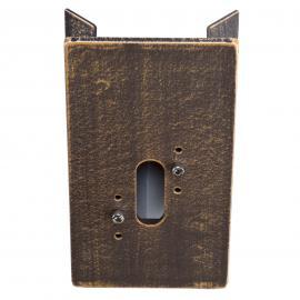 Adaptateur d'angle brun laiton pr appliques d'ext