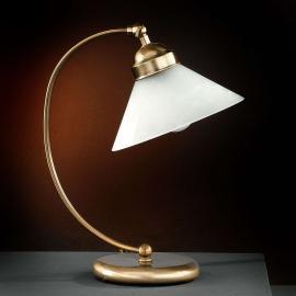 Belle lampe à poser TESSA en laiton ancien