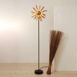 Charmant lampadaire SONNE doré, hauteur 121 cm