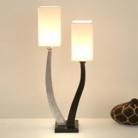 Élégante lampe à poser QUADRANGOLAR, argt 2 lps.
