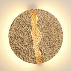 Applique LED ronde dorée Éruption