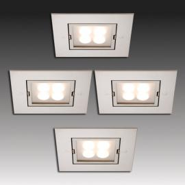 Set de 4 spots encastrables ARF-Q LED inox