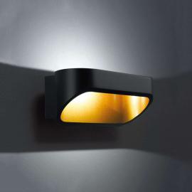 Applique LED Onno noir-doré 18cm