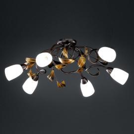 Plafonnier torsades Supra 6 lampes