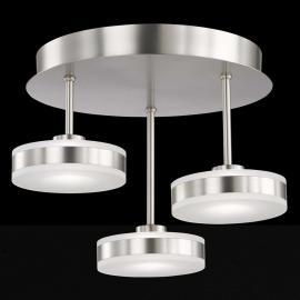 Remarquable plafonnier LED Puk à trois lampes