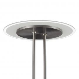 Lampadaire indirect LED Fluente CCT liseuse nickel