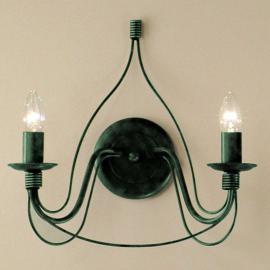 Applique FILO à 2 ampoules, vert antique
