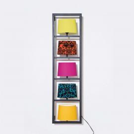 Applique encadrée de noir PARECCHI à 5 lampes