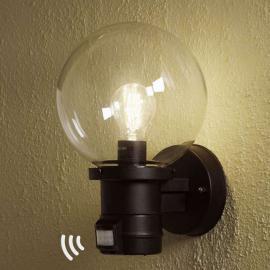 Applique extérieure NEMI noire détecteur de mvt