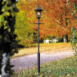 Lampadaire noir mat 1 lanterne VIRGO