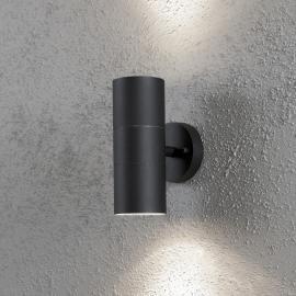 Applique extérieure NEW MODENA noire à 2 lampes
