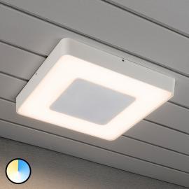 Plafonnier d'extérieur LED blanc carré Carrara