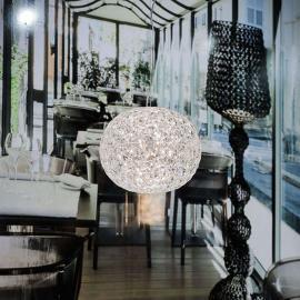 Suspension LED de designer transparente Planet